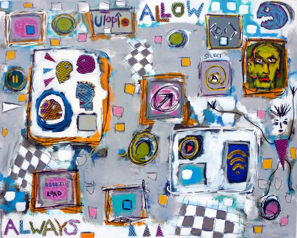 Always Allow, 80 x 100cm, mixed media on canvas, 2016